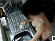 Nudist Doing Dishes Spy Cam