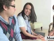 Huge tits MILF teacher Ava Addams with innocent teen co