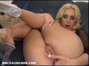 Kelly Wells Stretches Her Ass With A Brutal Dildo