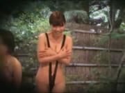 Subtitled ENF CMNF Japanese busty string bikini prank