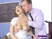 Hot Schoolgirl Nina North Gets Boned By Teacher