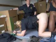 Shemale cop fucks prisoner and lesbian police punish Bl