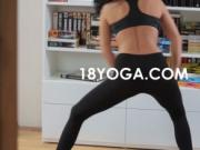 Sweaty firm yoga student ass fucked