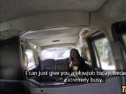 Ebony teen fucked doggy style in van