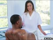Massage therapist fucked by black client