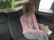 Blonde fucked on backseat of cab