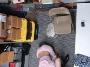 Tiny College babe Kat Arina fucks in the office