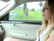 Natural teen Alex Blake shows perky tits for a ride
