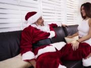 Santa shoved his big cock deep throat