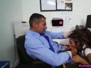 Tiny Victoria Valencia fucked in an office desk
