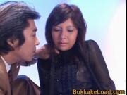 Christel Takizawa Hot Asian chick gets bukkake 1 by Buk