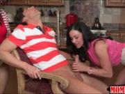 Huge boobs mature milf Kendra Lust horny threesome sess