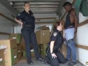 Bbw police and caught by police Black suspect taken on