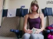 Eurobabe Gina Gerson railed in a train
