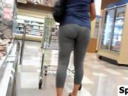 Great Ass In Leggings At The Store