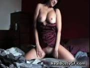 Real busty GF exposed masturbating for cam 2 by RealBus