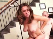 Sensual chick takes huge phallus