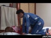 Lusty jap geisha riding cock and pleasing herself with