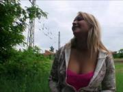 Busty Czech girl Lana pounded by stranger for some mone