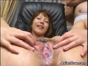 Cumming All Over Her Pussy
