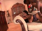 Sexy ebony hoe Adrianna Adin gets fucked hard up her ti