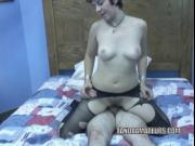 Teen Raven is getting nailed by an older dude