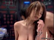 nasty asian babe is fucked by asian horny guy, he fucks
