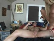 Dirty blonde whore goes crazy riding an hard cock by Di