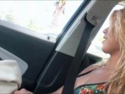 Latina teen Valentina banged in the car