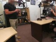 Sexy hot latina fucked in office to a pawn shop