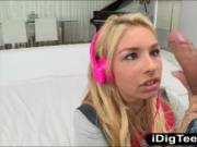 Tight teen Carmen Caliente stuffed and facialed by big