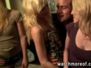 Curvy college chicks goes wild during a house party and
