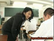 Natsumi kitahara rimming some guy and gives wankjob 2 b
