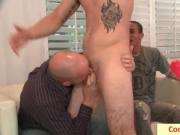 Bunch of horny guy and one sausage by cocksausage
