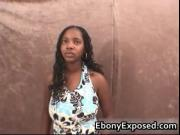 Busty ebony chick pumping cock inside her mouth 1 by Eb