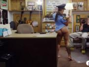 Ms security officer pawns her stuff and fucked to earn