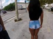 Fucking big ass Ria Rodriguez in public