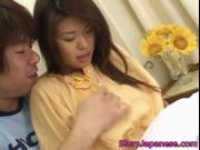 Wild whore Megu Hayasaka performs oral sex 1 by Slurpja