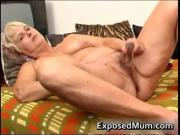 Nasty mom feeling sexy playing with clear dildo 4 by Ex