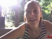 Outdoor sex teacher Vicky real show