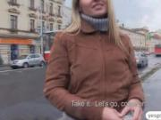 Hot euro chick engages on sex for cash