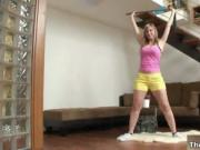 Big tits blonde loves doing her workouts naked by TheSh
