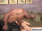 Poppy Morgan interracial blowjob