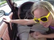 Tight blonde slut try to sell her car in the pawnshop