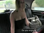 Blonde fucked in backseat of cab