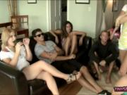 Naughty girls learned how to suck cock
