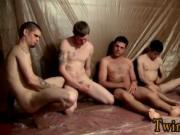 Hot gay scene The men are gathering around and masturba