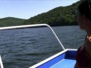 Czech lesbians fingering on the boat