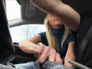Blond teen Victoria Puppy fucked in the car by stranger