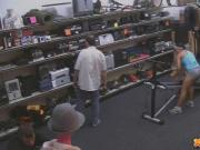Muscular latina babe fucked in pawn shop
